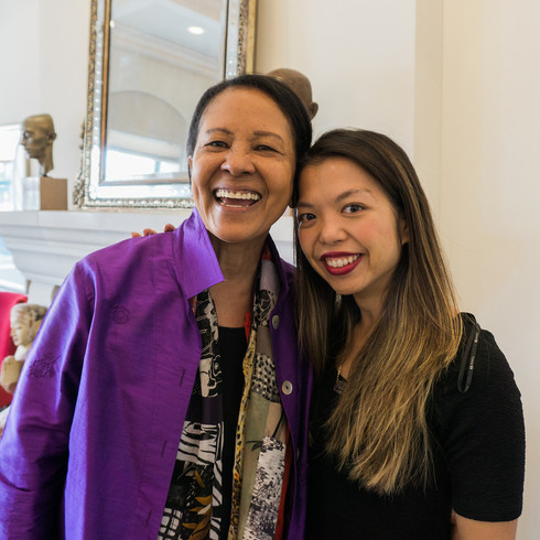 Sylvia Lewis '74 and Judy Lei '11