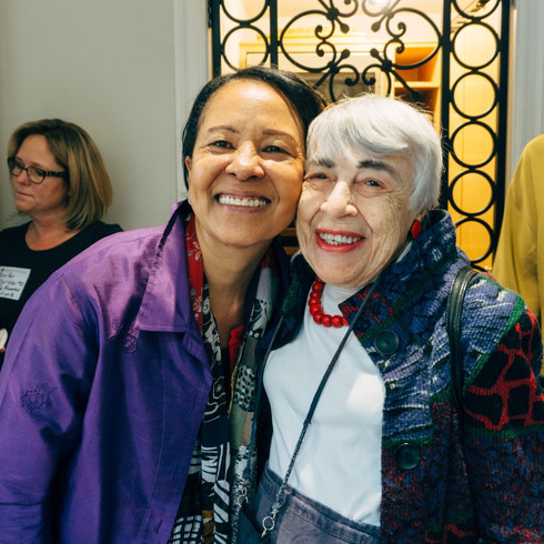 (Left to right) Sylvia Lewis '74 and Ruth Turner '46