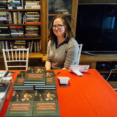Harlem bookseller, Book Culture, managed the book sales and book signing. Sales associate for Book Culture, Caitlin Liss '10