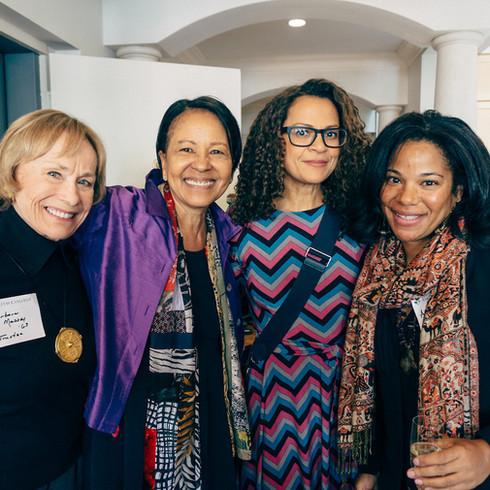 Barbara Massey, Sylvia Lewis '74, Alison Stewart, Co-Anchor, PBS, and Anika Michelle Penn