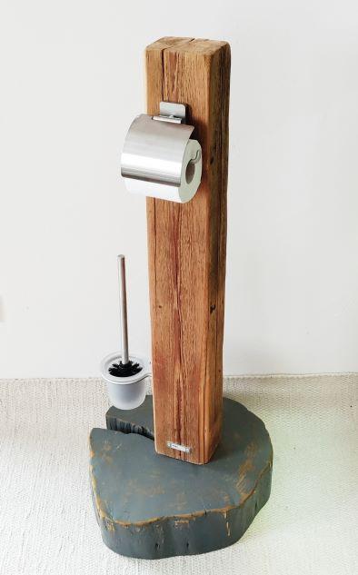 WC-Ständer/Toilettenpapierständer Altholz/Holzpfosten