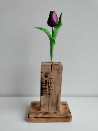 Blumenvase aus Paletten/Frühlingsdekoration/Vase
