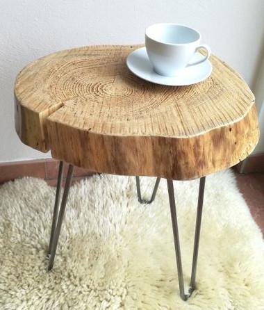 Tisch/Beistelltisch/Couchtisch/Baumscheibentisch aus Fichte