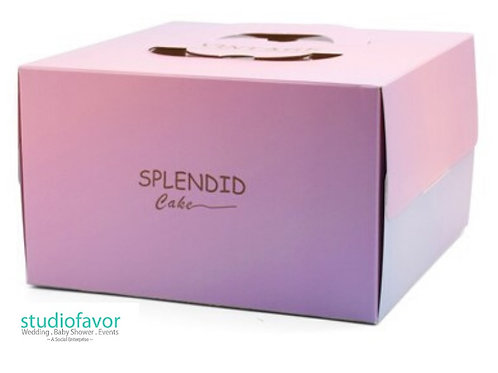 "6"" Splendid Cake Box"