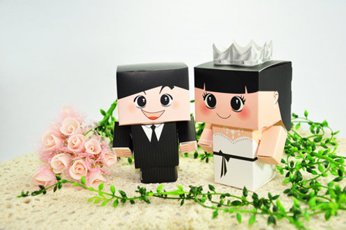 Couple Wedding Doll (Modern Costume)