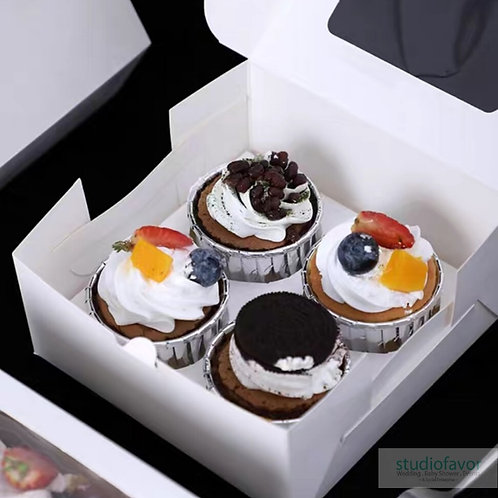 4 Cupcake Box Flat (no handle)