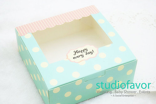 Square Sweet Dotted Cake Box