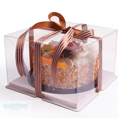 New 8 Inch Large Transparent Cake Box