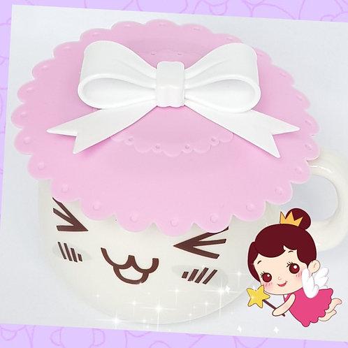 White Ribbon Pink Lace Base