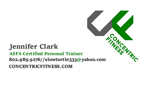 Concentric Fitness Vermont Personal Trainer   TRAIN WITH JENNIFER