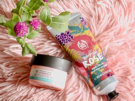 The Body Shop: British Rose Hand Cream & Vitamin E Gel Moisture Cream Review
