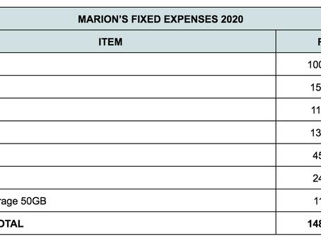 My Monthly Fixed Expenses Breakdown 2020
