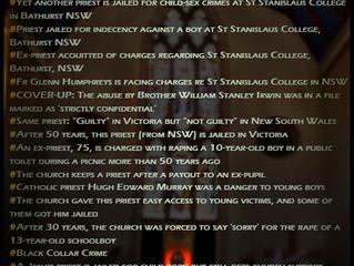 Pedophile culture. St Stanislaus college, BATHURST.
