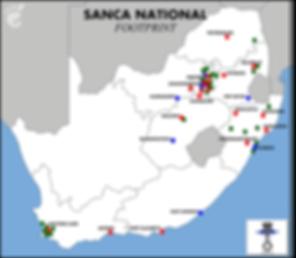 SANCA NATIONAL FOOTPRINT