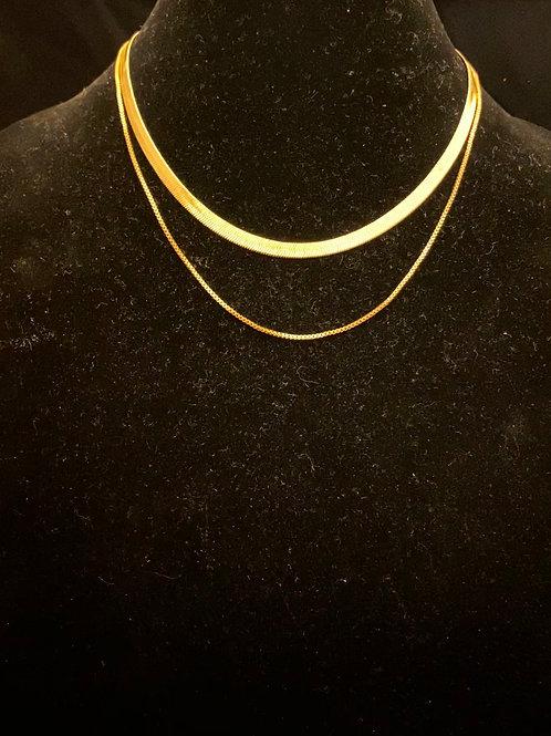 Herringbone Necklace Set