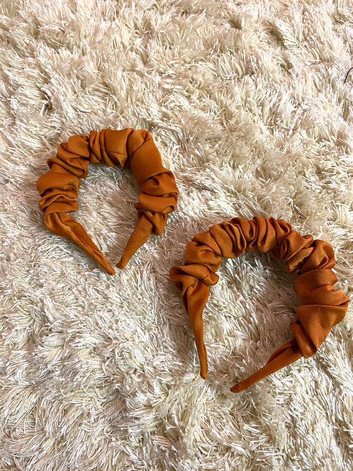 Burnt Orange Scrunch Headband