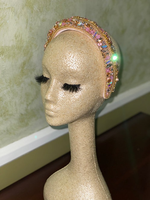 Roses and Rose Pink Headband
