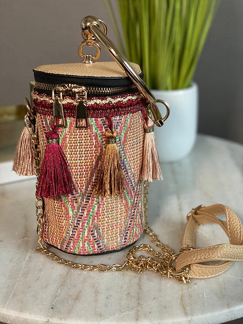 Fringe the Bucket Handbag (Red)