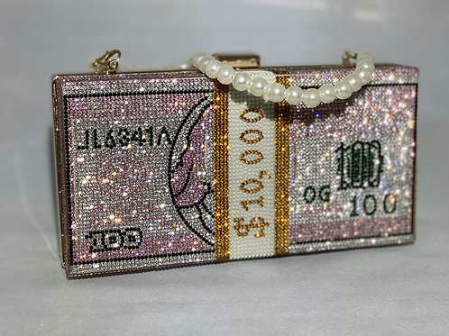PINK 10 $TACKS Clutch