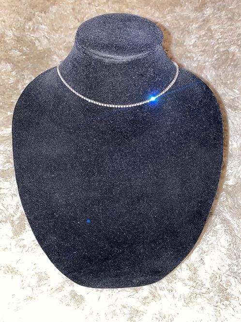 Diamond Embellished Tennis Necklace