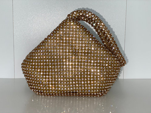 Drippin' Diamonds Handbag (Gold)