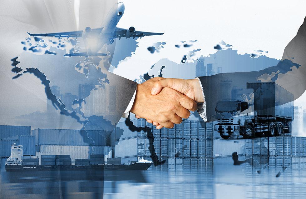 Global logistics network  concept, Air c