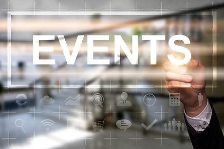 "Businessman draws ""Events"" on the virtua"