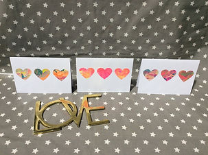 Set of 3 Notelets - 3 Hearts - from THE