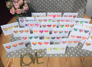 Set of 5 Notelets - 3 Hearts - from THE