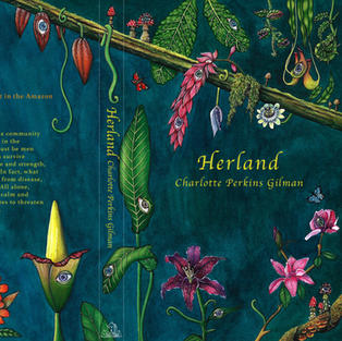 'Herland' cover done in watercolour