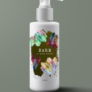 'Bare' Tulip Bodywash Bottle