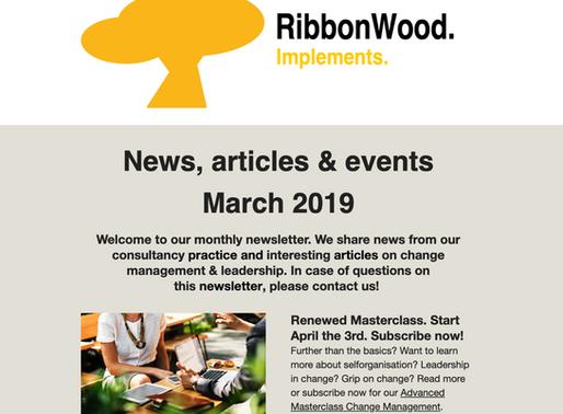 Interessante maart editie RibbonWood news met o.a. nieuwe management rollen
