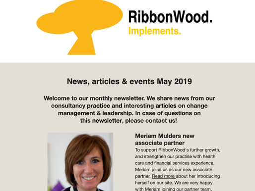Check May newsletter with new management roles, partner & advisory council