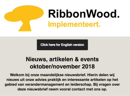 Check onze RibbonWood nieuwsbrief oktober/november