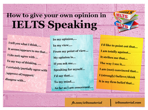 Phrases for Giving Own Opinion