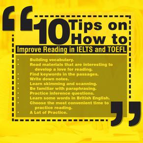 10 tips on Reading in IELTS/TOEFL