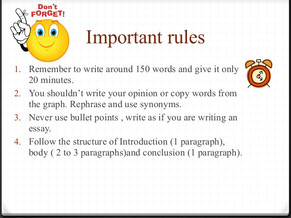 Important rules for writing