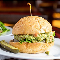 Spicy Guacamole Cheeseburger