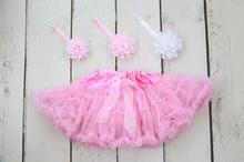 Baby Pink Tutu / Matching Headbands