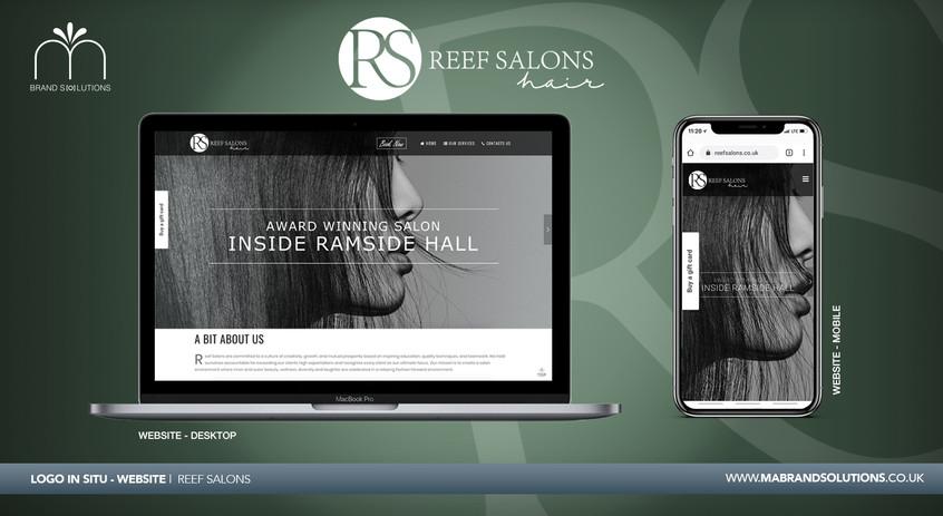 Reef Salons | Logo in Situ