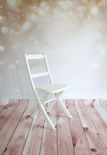 Cream Sparkles / Wooden Floordrop