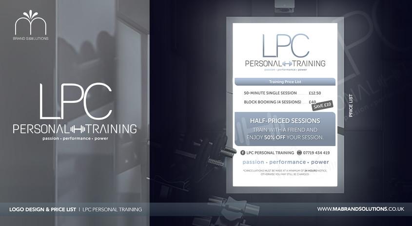 LPC Personal Training | Price List