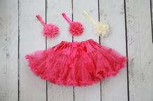 Hot Pink Tutu / Matching Headbands
