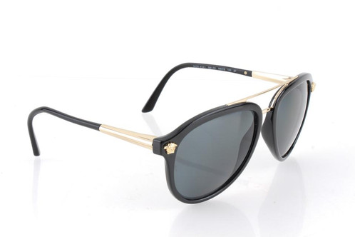 36daafb5424e3 Buy Versace VE 4341 Black Sunglasses For Women at the lowest prices on the  Internet
