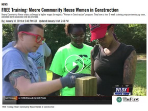 "Moore Community House's Women in Construction Featured on WLOX's ""4 O'Clock Show"""