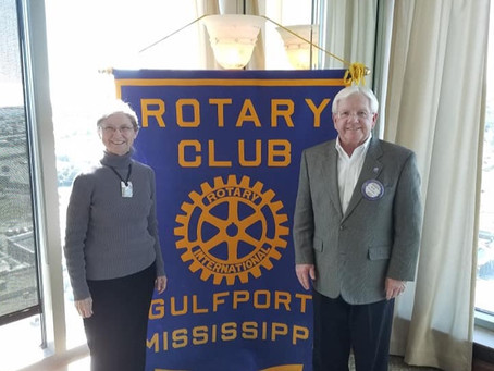 Moore Community House Visits Gulfport Rotary Club