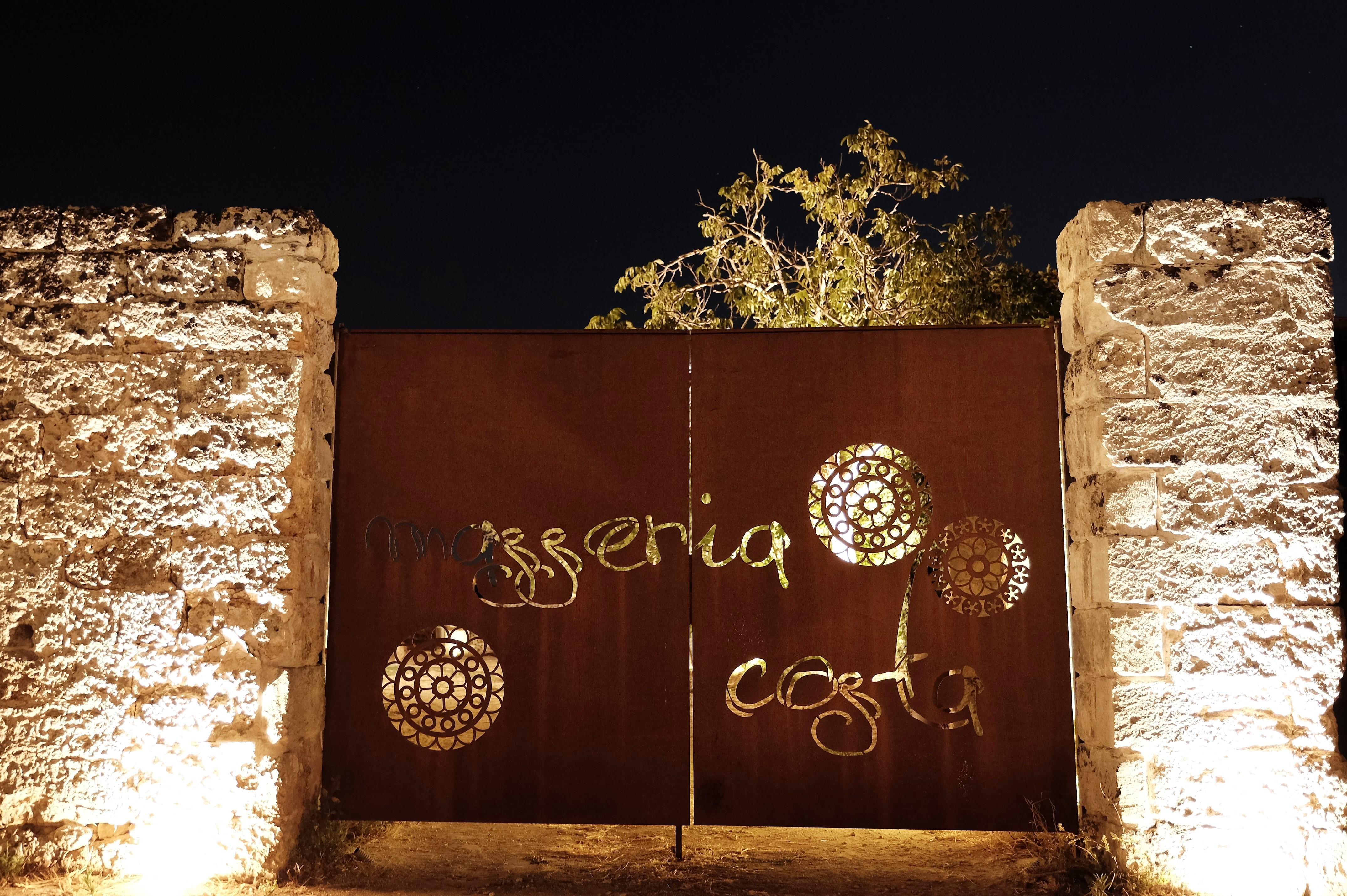 Particolare cancello Masseria Costa