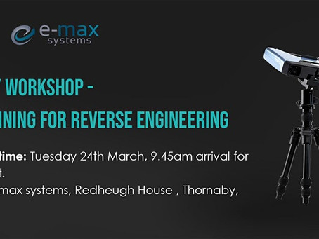 Workshop morning for 3D Scan to Reverse engineering