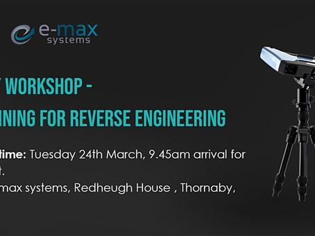Reverse Engineering Workshop - Einscan 3D Scanner in demonstration
