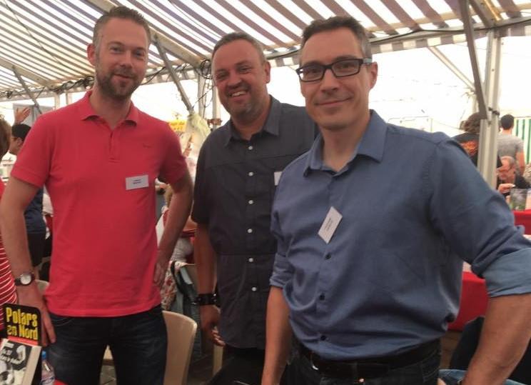 Avec Ludovic Bertin et Denis Albot